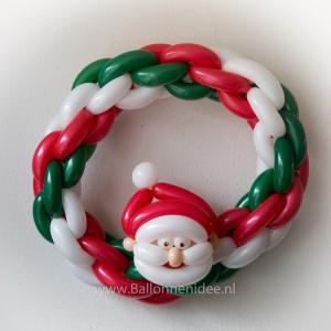 Dubbele kettingkrans met kerstman