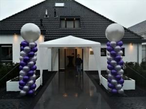 2 mtr zuilen met topballon